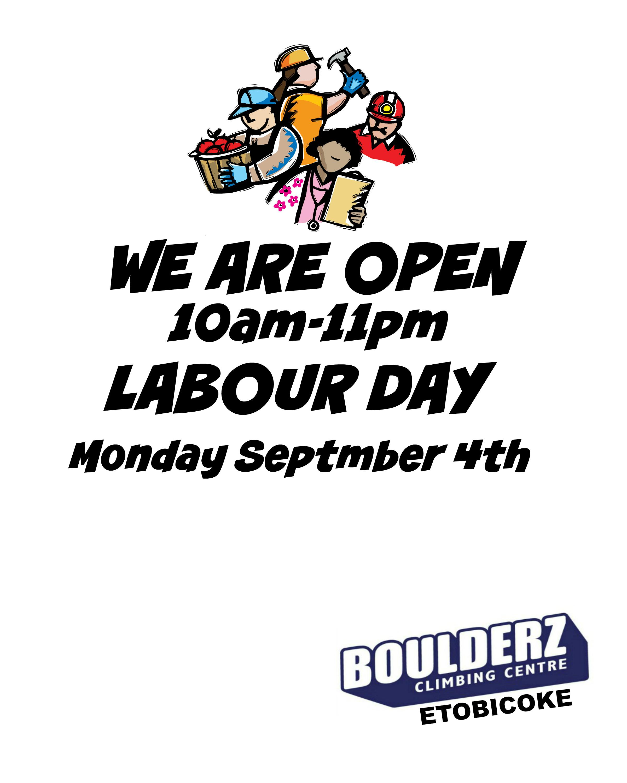 Labour Day Hours  U2013 Boulderz